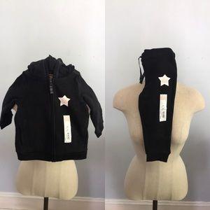 Carter's baby girl fleece sweat suit set black